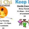 Tai Chi & Keep Fit class reopens on Tuesday 6 September 2016