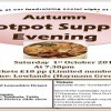 Hurry! Tickets are limited – Autumn Hotpot Supper Evening on Sat 1st October 2016