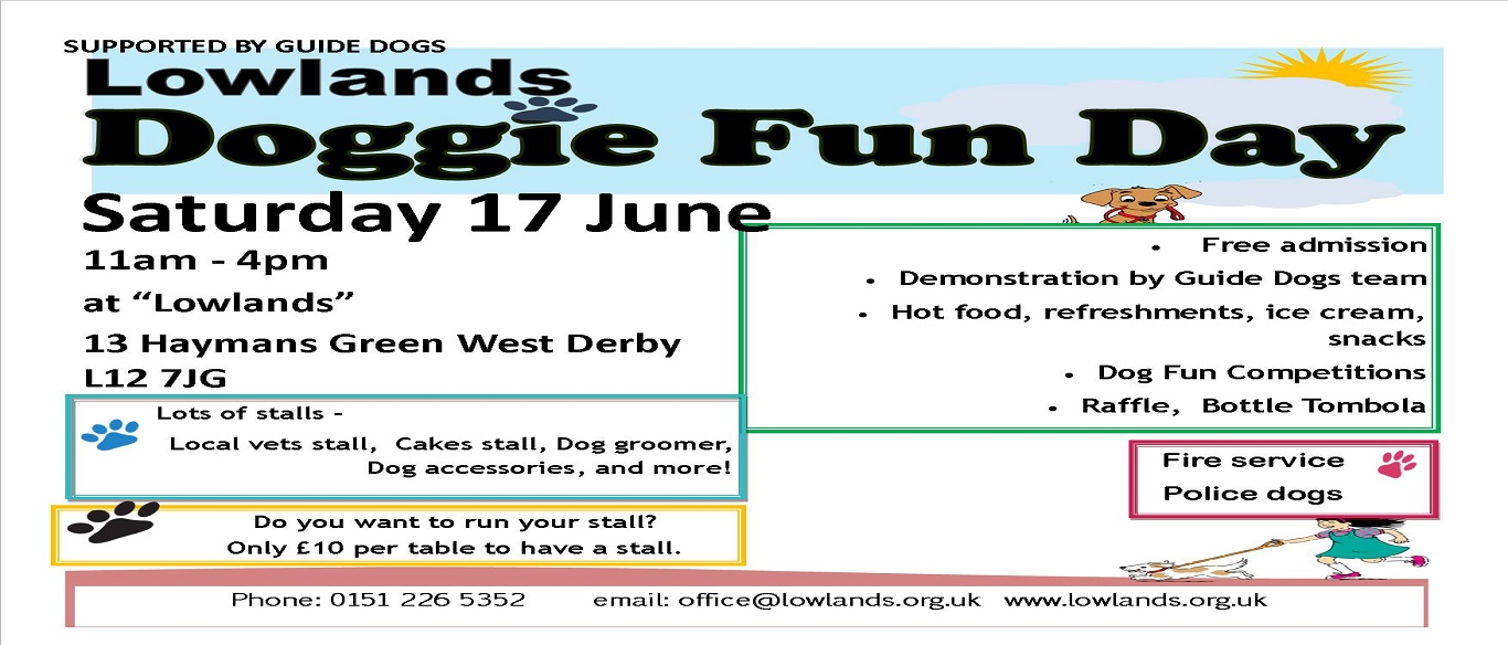 2017 Doggie Fun Day flyer landscape